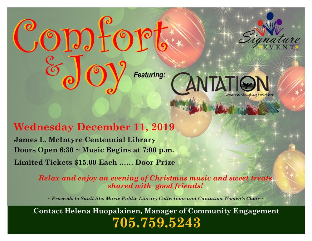 Comfort and Joy Signature Event Flyer