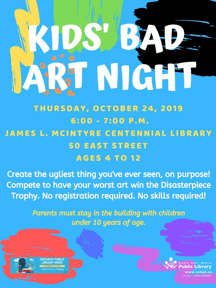 Kids Bad Art Night Poster